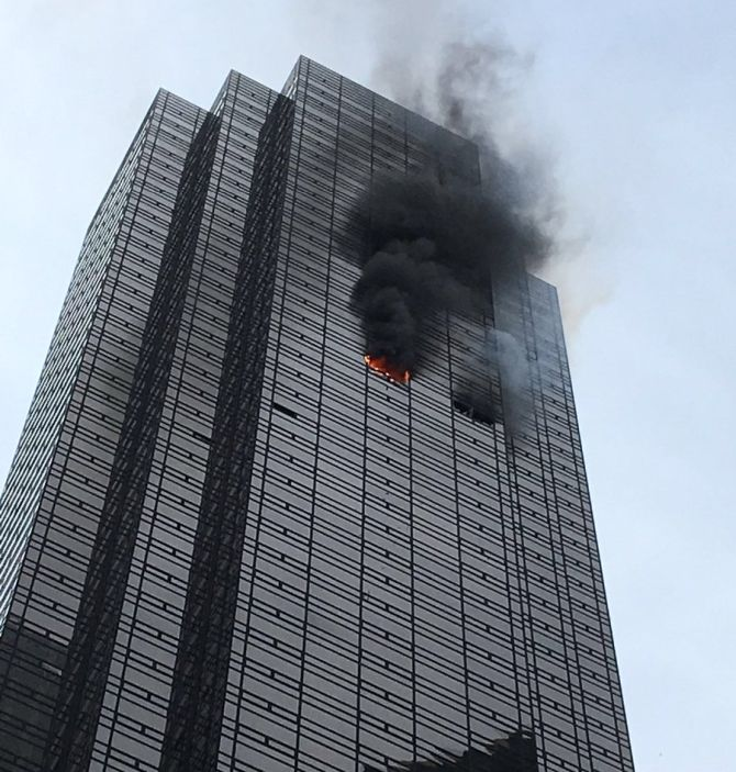 1 Killed 6 Injured In Fire At Trump Tower Rediff Com