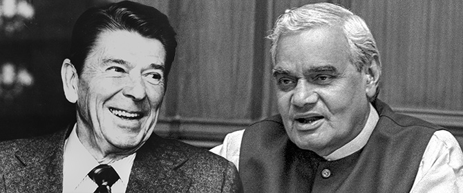 India News - Latest World & Political News - Current News Headlines in India - Vajpayee and Reagan: Two of a kind