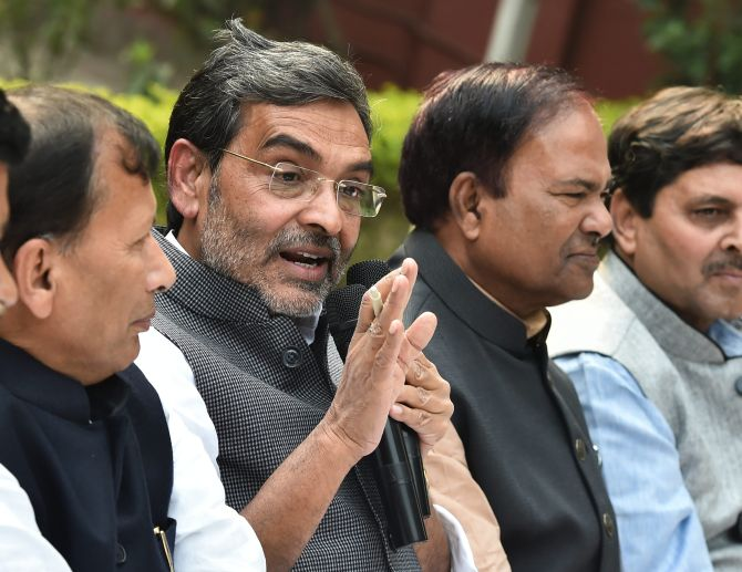 RLSP chief Kushwaha resigns as minister, quits NDA
