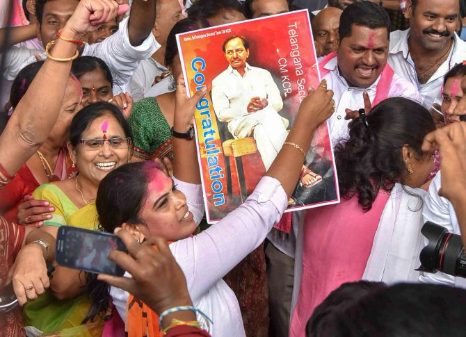 Freebies get KCR a second term in power
