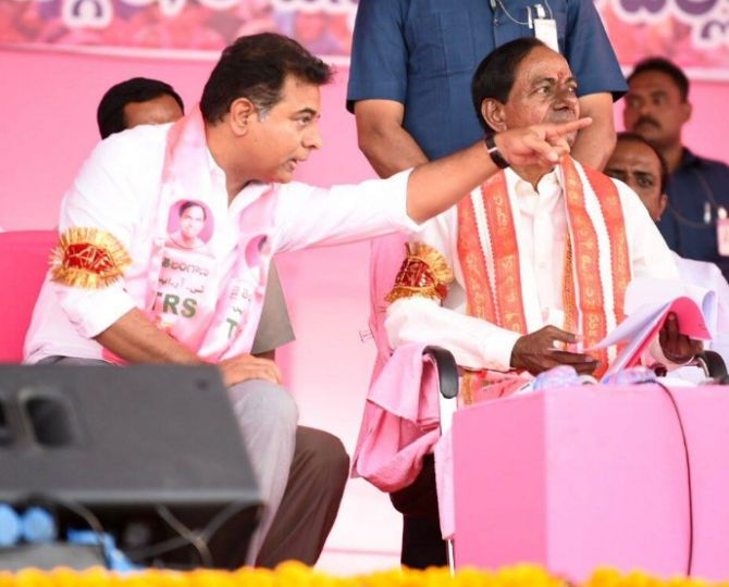 KCR appoints son KTR as TRS working president; to focus on national politics