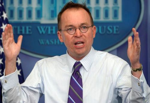 Trump names Mick Mulvaney as interim Chief of Staff