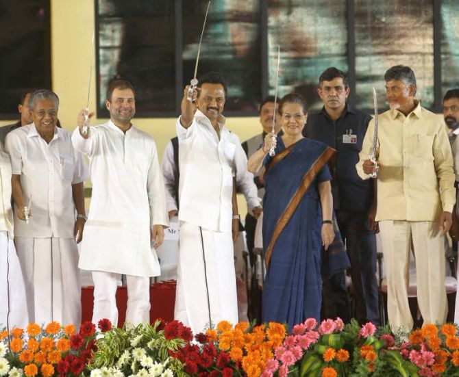 Oppn to display strength of unity at Congress CMs' swearing-in