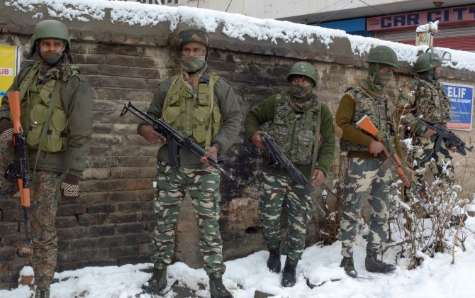 4 Hizbul terrorists, jawan killed in Shopian encounter
