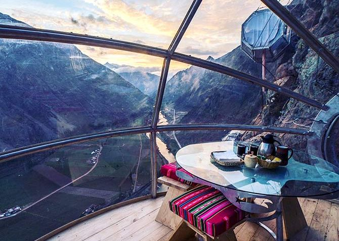 India News - Latest World & Political News - Current News Headlines in India - Would you sleep in a glass pod suspended off a mountainside?