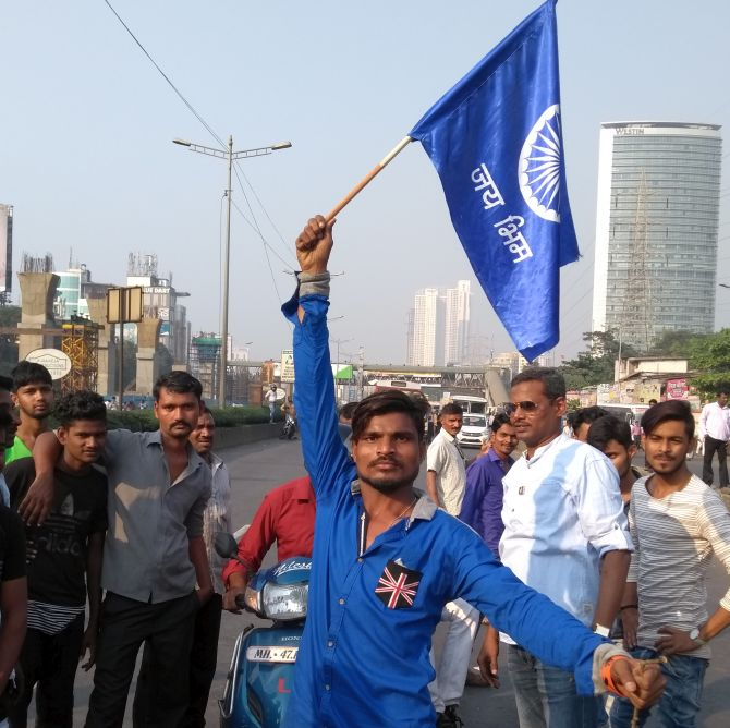 A protest by Dalits in Mumbai