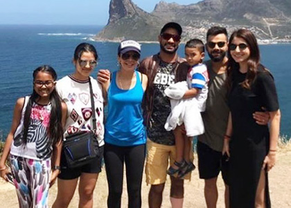 Dhawan, Kohli and family