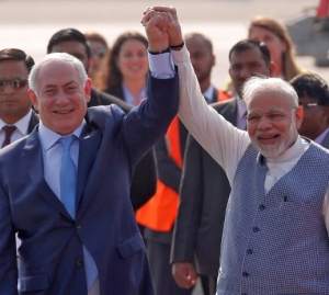 Netanyahu in India
