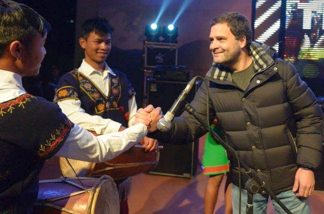 bjp takes potshots at rahul for wearing jacket worth rs 70 000