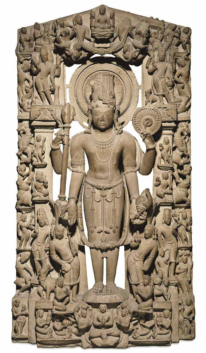 This sandstone Harihara circa 1000 was once situated perhaps in Khajuraho, Madhya Pradesh before it reached Major General Charles Stuart's collection. Photograph: With kind permission courtesy British Museum