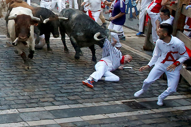 India News - Latest World & Political News - Current News Headlines in India - How dangerous is it to run with the bulls?