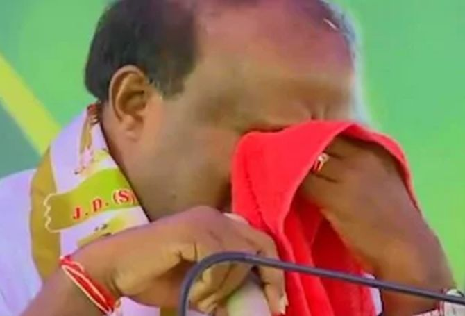 India News - Latest World & Political News - Current News Headlines in India - Have swallowed pain of coalition govt, says tearful Kumaraswamy