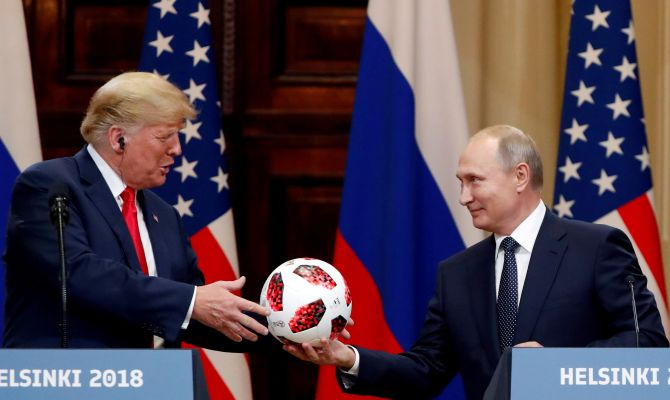 India News - Latest World & Political News - Current News Headlines in India - After meeting Putin, Trump terms Russia probe a 'disaster'