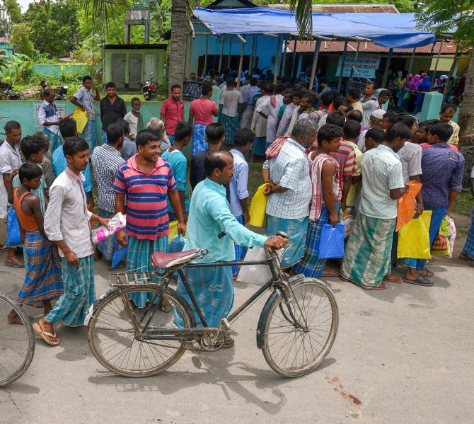 Row over NRC list in Assam echoes in Parliament - Rediff com