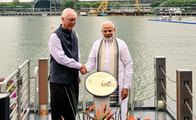 India News - Latest World & Political News - Current News Headlines in India - Modi unveils Gandhi's plaque, meets Mattis in Singapore