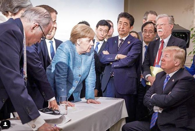India News - Latest World & Political News - Current News Headlines in India - This image from Merkel at the G7 summit made thousands go LOL
