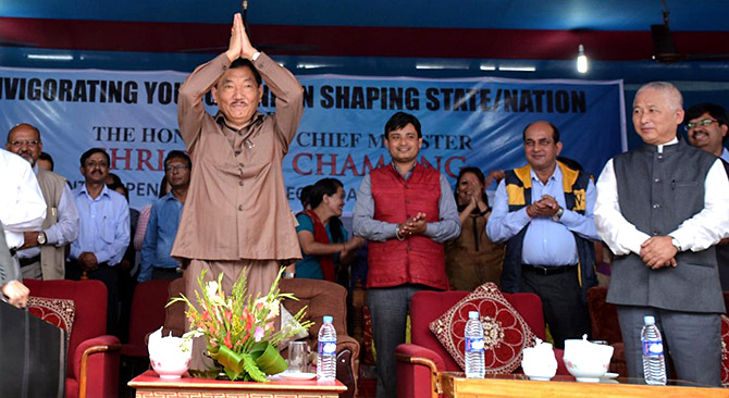 Sikkim Chief Minister Pawan Chamling, India's longest serving chief minister. Photograph: Kind courtesy http://pawanchamling.in