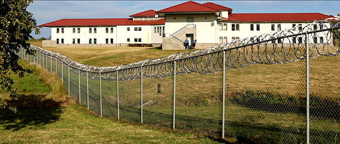 Another view of the prison in Sheridan, Oregon