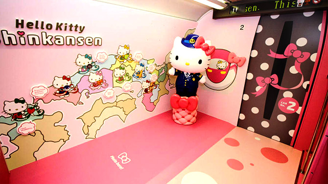 India News - Latest World & Political News - Current News Headlines in India - PHOTOS: Inside the world's cutest Hello Kitty Bullet train