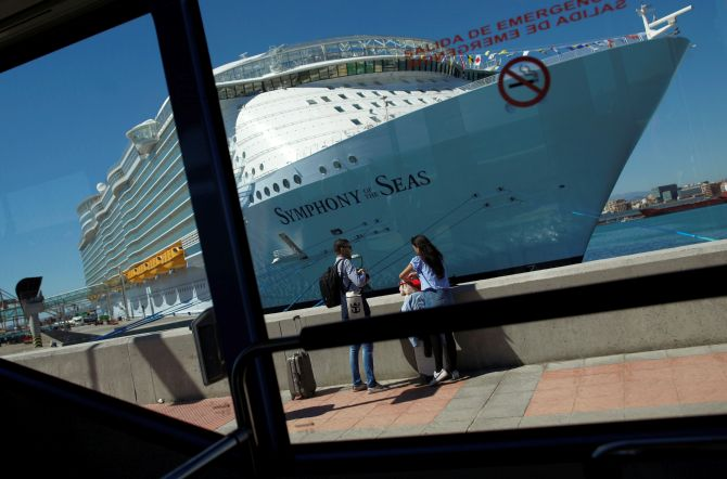 On board the world's largest cruise ship! - Rediff com India