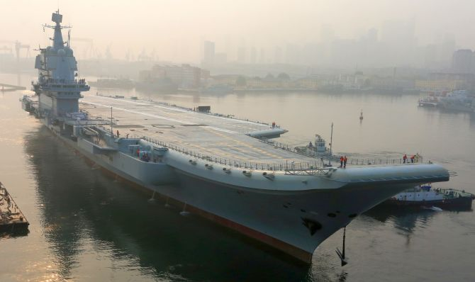 India News - Latest World & Political News - Current News Headlines in India - China's first home-built aircraft carrier begins sea trials