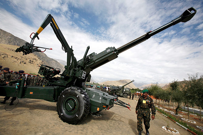 The controversial Bofors gun