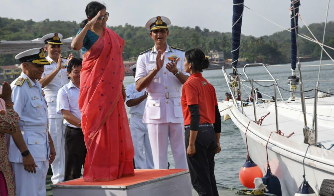 India News - Latest World & Political News - Current News Headlines in India - PHOTOS: Navy girls reach home after travelling around globe