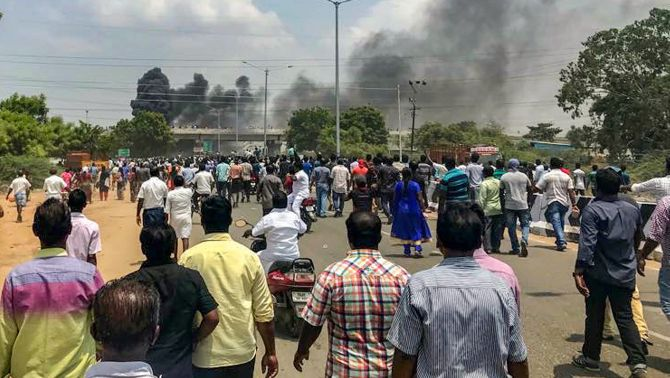 India News - Latest World & Political News - Current News Headlines in India - 9 killed in police firing on protesters at Sterlite's TN plant
