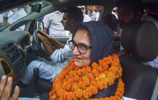 Tabassum Hasan, who won the Kairana Lok Sabha by-election by 44,000 votes, is the first Muslim MP from Uttar Pradesh in the 16th Lok Sabha. Photograph: PTI Photo