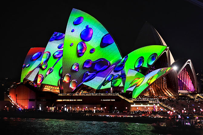 India News - Latest World & Political News - Current News Headlines in India - Vivid 2018 casts Sydney in a brand new light