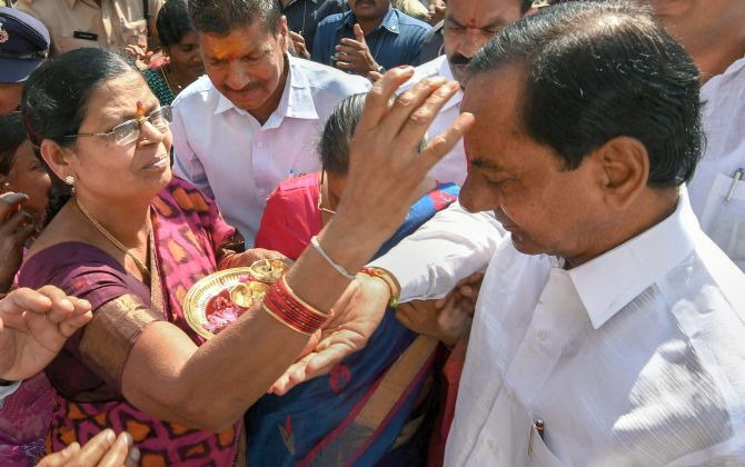 KCR's worth Rs 22.61 crore, but doesn't own a car