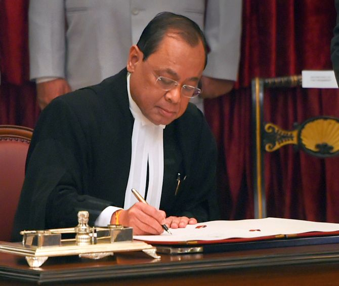 CJI Gogoi sits in bench for last time