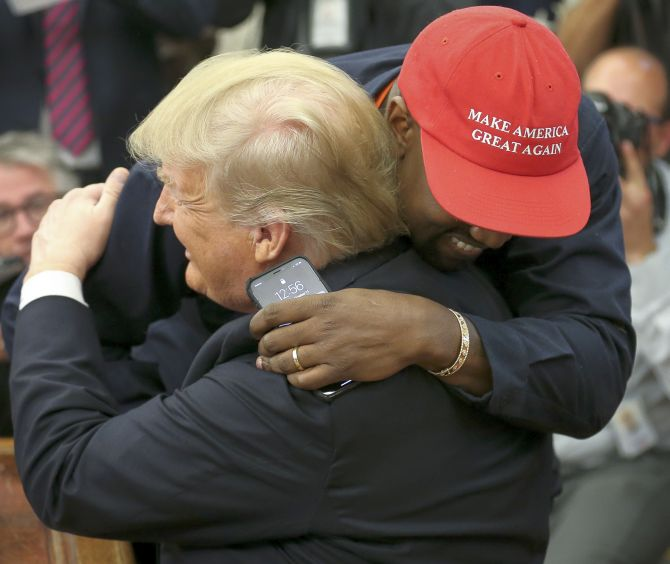India News - Latest World & Political News - Current News Headlines in India - 'I love this guy': Trump, Kanye hug it out at meeting