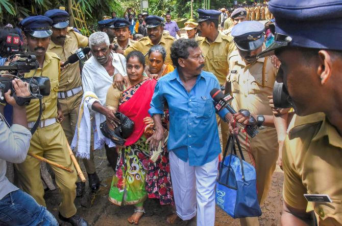 Image result for kerala sabarimala women journalist