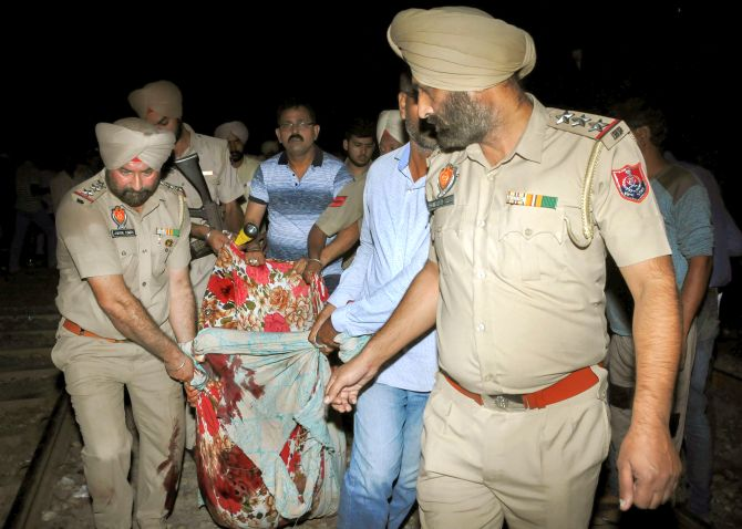 India News - Latest World & Political News - Current News Headlines in India - Dussehra turns tragic in Amritsar as 61 crushed under train