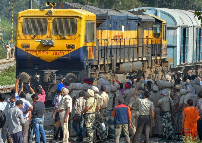 Amritsar Accident Protesters Removed From Track Trains Resume