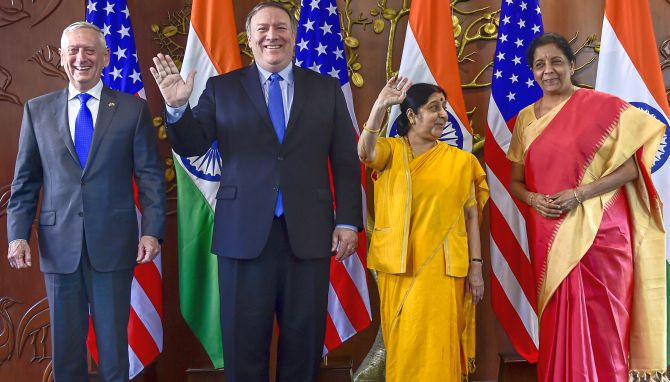 India News - Latest World & Political News - Current News Headlines in India - First 2+2 talks: India, US ink critical defence pact