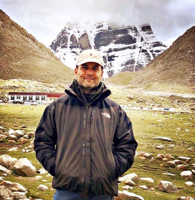 India News - Latest World & Political News - Current News Headlines in India - Is this Rahul on Kailash Mansarovar Yatra? Fake photos, says BJP