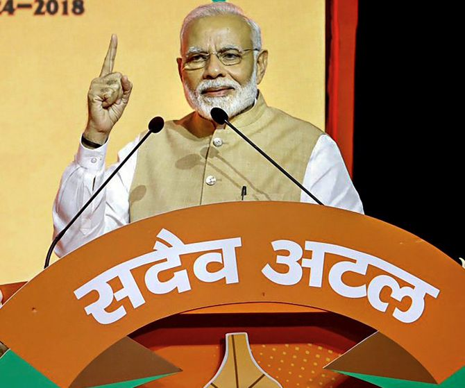 India News - Latest World & Political News - Current News Headlines in India - See no challenge from Oppn, will win in 2019: Modi at BJP meet