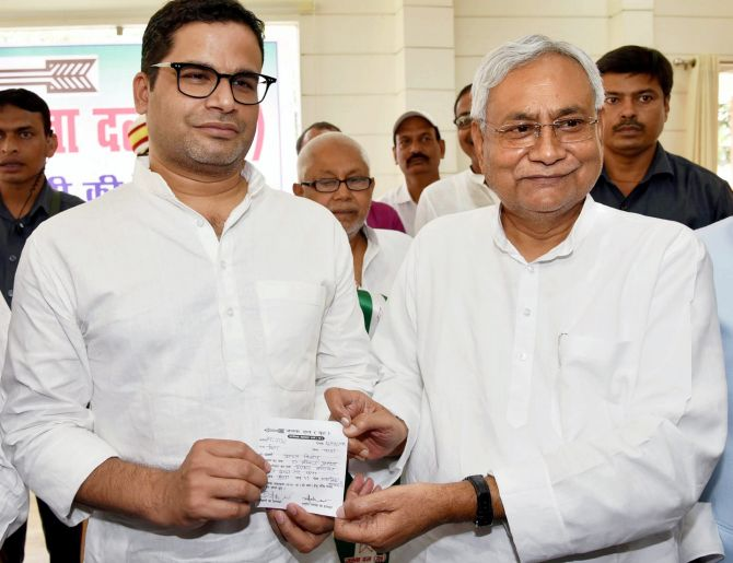 How Prashant Kishor is helping Nitish's JD-U - Rediff com India News