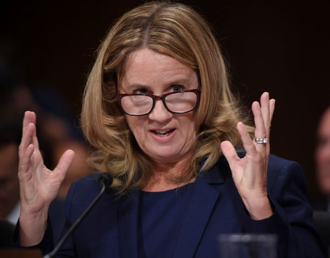 India News - Latest World & Political News - Current News Headlines in India - '100 percent' sure that Kavanaugh assaulted me: Christine Ford to US senators