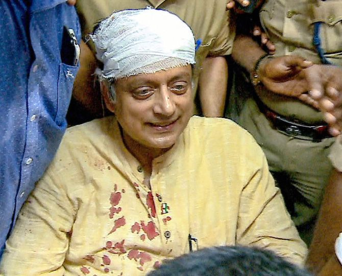 Was Tharoor's mishap an accident or foul play? - Rediff com