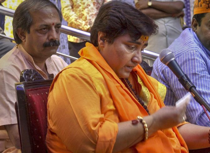 Karkare died for treating me badly: Sadhvi Pragya