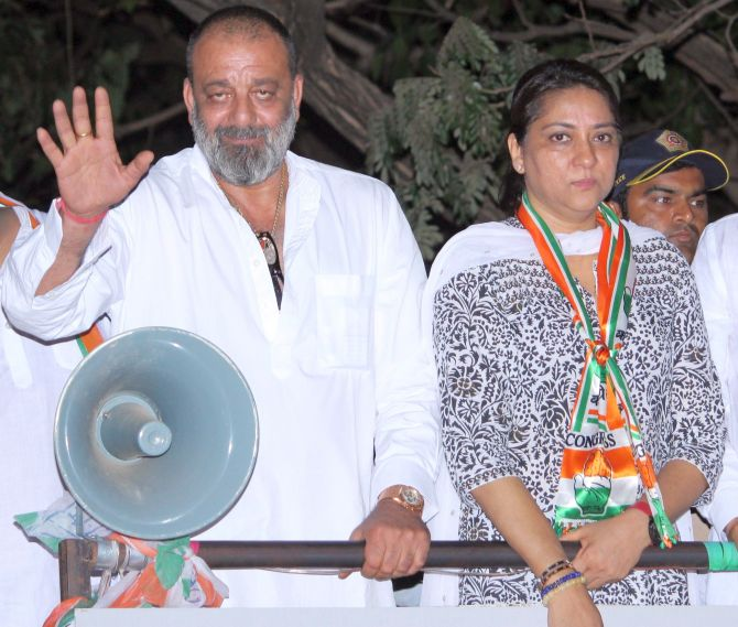 PHOTOS: Sanjay Dutt campaigns for sister Priya