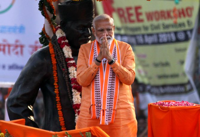 Varanasi: PM holds mega roadshow, performs Ganga Aarti