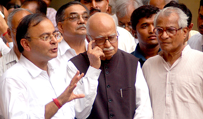 Party depended on Jaitley for solutions: Advani