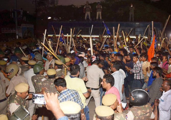 Bhim Army chief arrested after clashes over temple