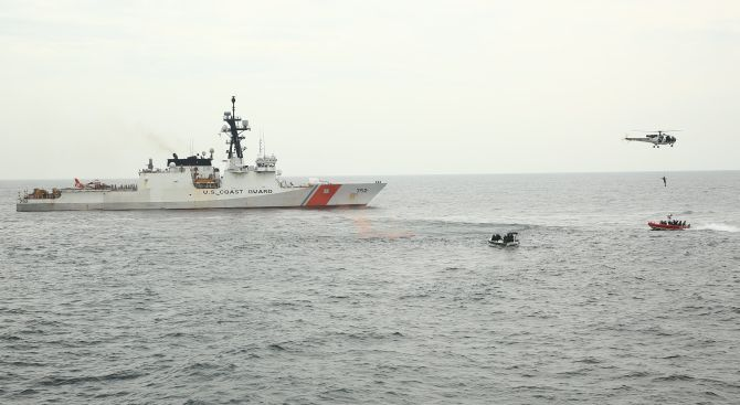 PHOTOS: India, US Coast Guards hold joint exercise