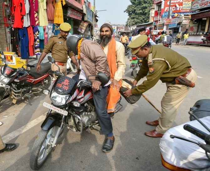 Tight security in Ayodhya ahead of Babri anniversary
