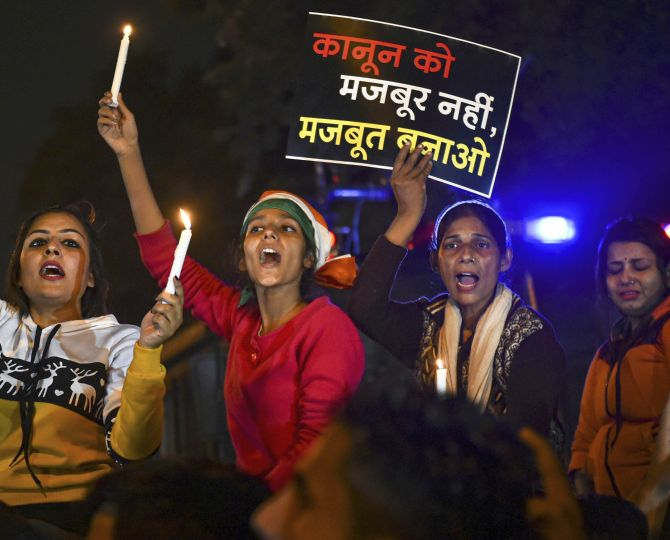 PHOTOS: Candlelight vigil held for Unnao rape victim